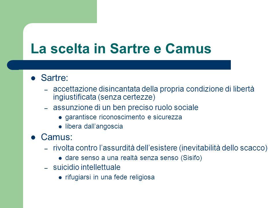 La scelta in Sartre e Camus