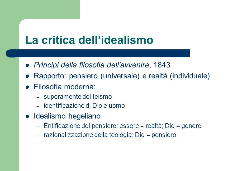 La critica dell'idealismo