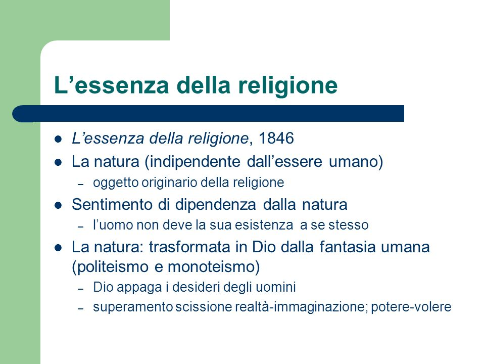 L'essenza della religione