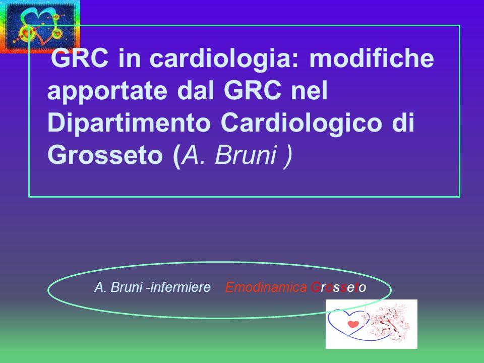 GRC in cardiologia: modifiche apportate dal GRC nel Dipartimento Cardiologico di Grosseto (A. Bruni )