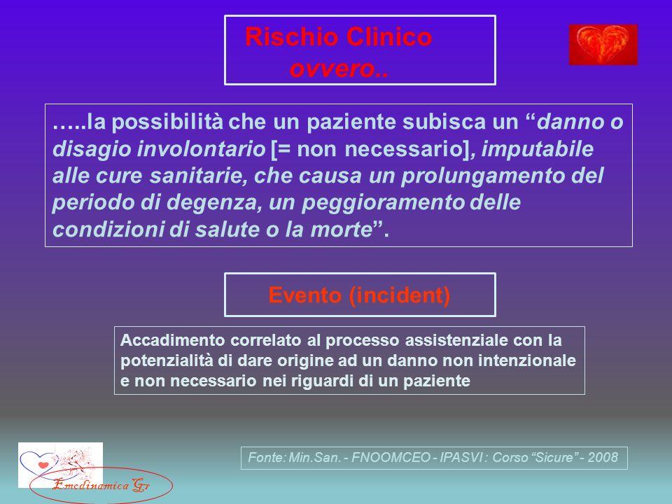 Rischio Clinico ovvero..