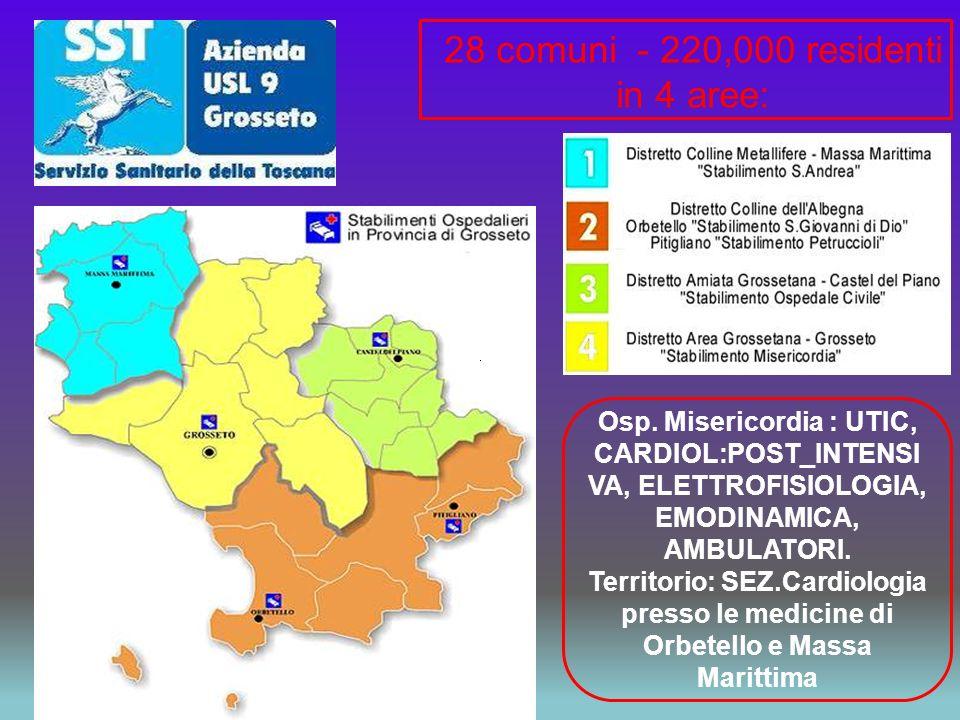 28 comuni - 220,000 residenti in 4 aree: