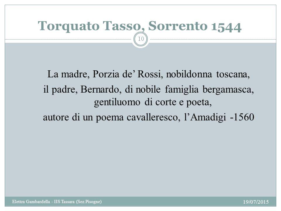 Torquato Tasso, Sorrento 1544