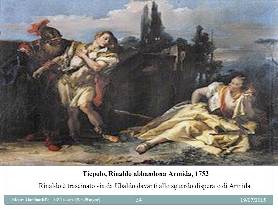 Tiepolo, Rinaldo abbandona Armida, 1753 Rinaldo è trascinato via da Ubaldo davanti allo sguardo disperato di Armida