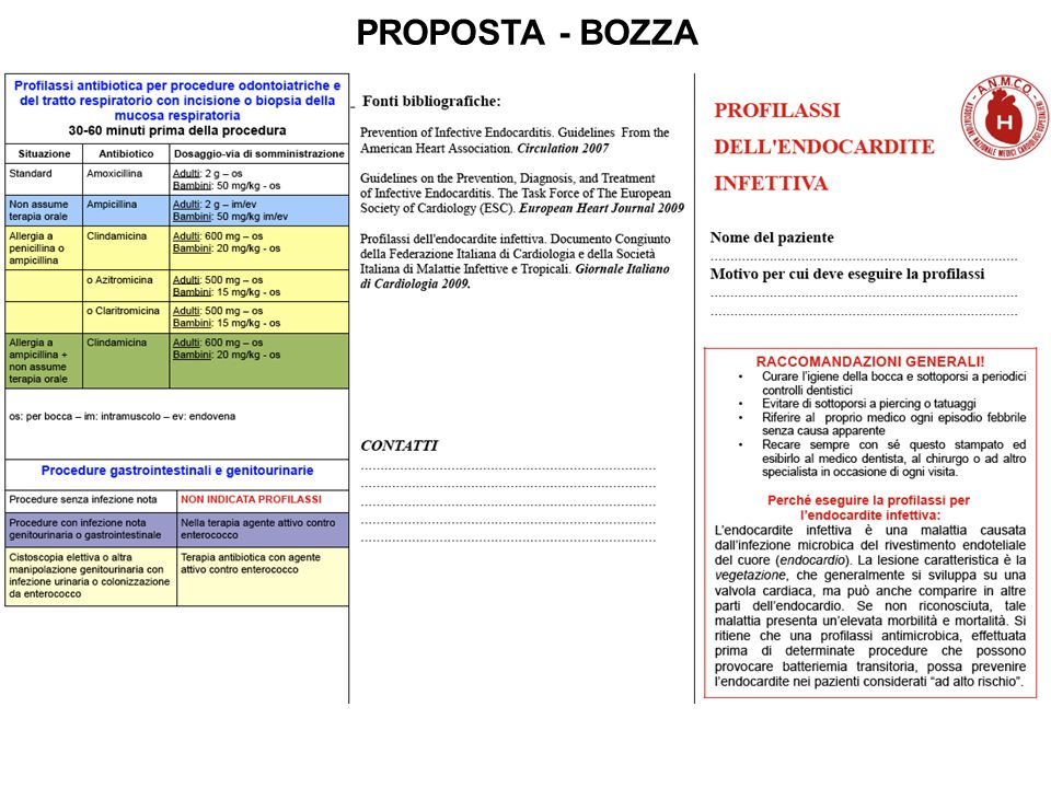 PROPOSTA - BOZZA