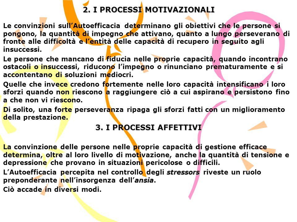 2. I PROCESSI MOTIVAZIONALI
