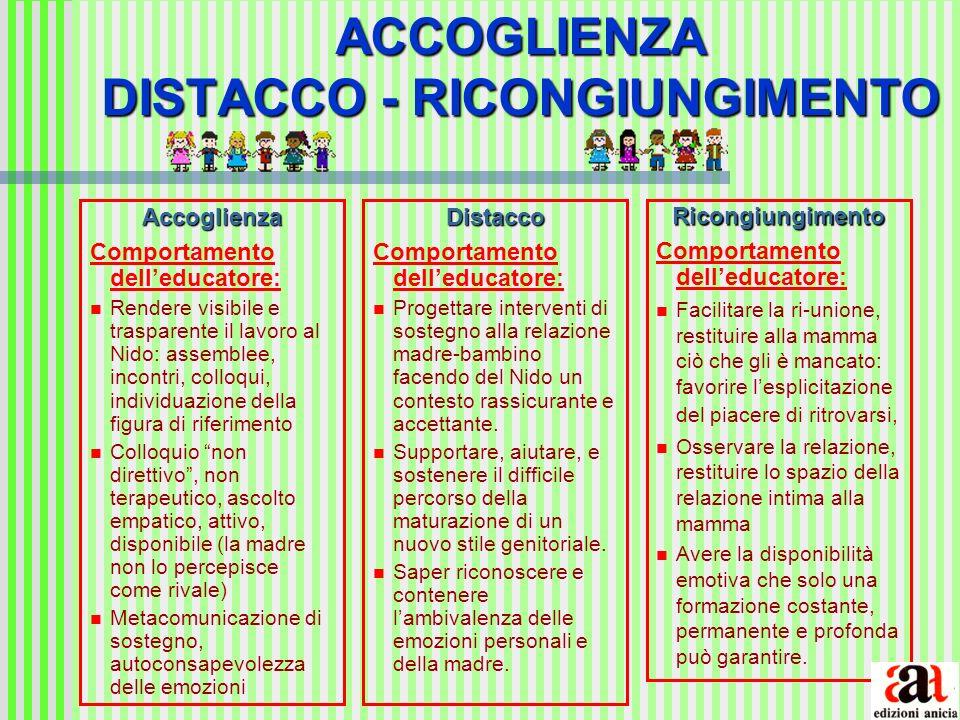 ACCOGLIENZA DISTACCO - RICONGIUNGIMENTO