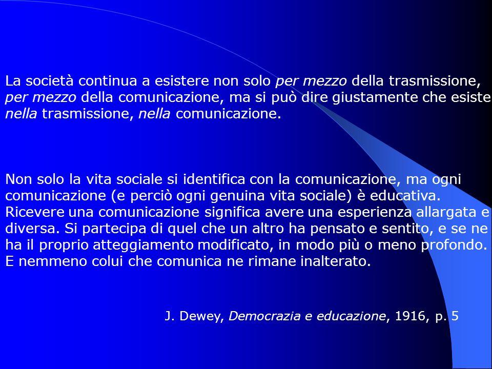 J. Dewey, Democrazia e educazione, 1916, p. 5