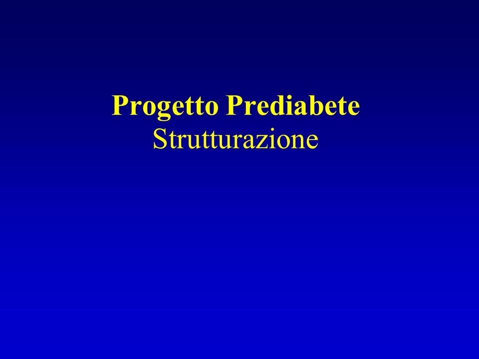 Progetto Prediabete Strutturazione