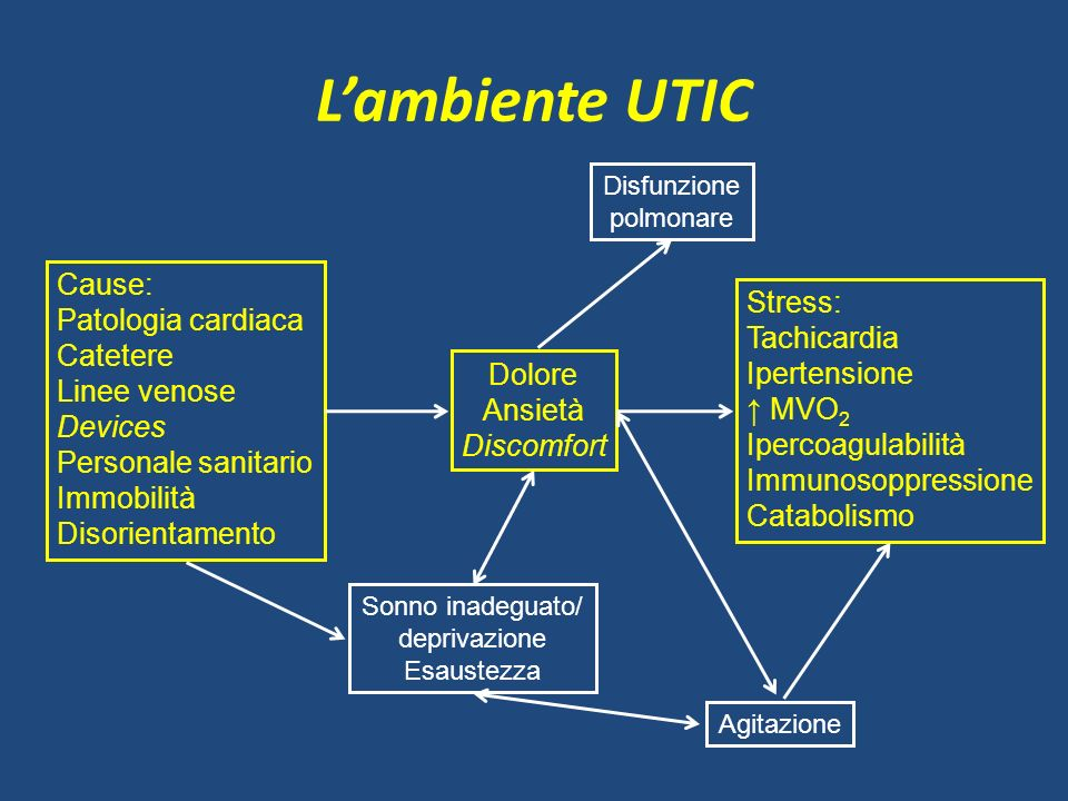 L'ambiente UTIC Cause: Patologia cardiaca Catetere Linee venose