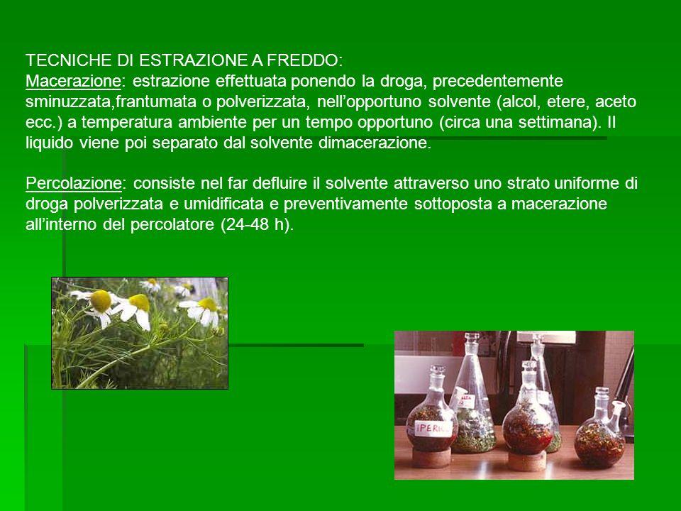 TECNICHE DI ESTRAZIONE A FREDDO: