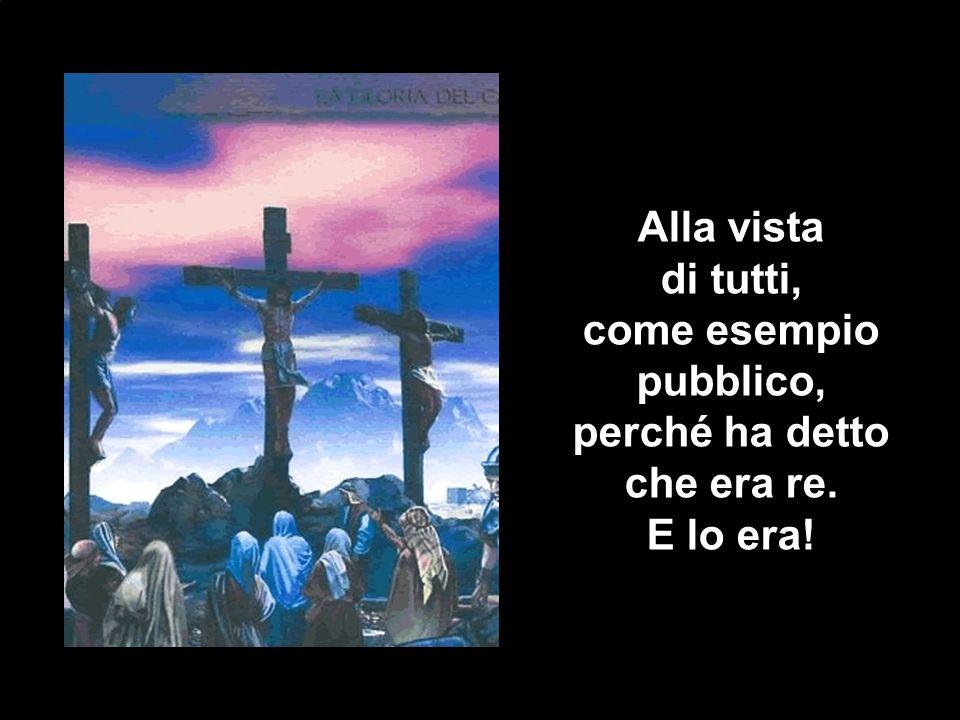 Undicesima stazione Gesù è appeso. alla Croce. Alla vista. di tutti, come esempio. pubblico, perché ha detto.