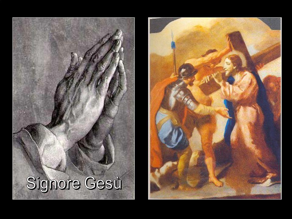 Seconda stazione Gesù prende la Croce fino