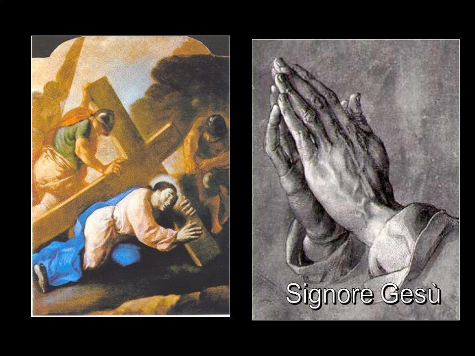 Terza stazione La Croce pesava: Gesù cade erano tutte sotto il peso