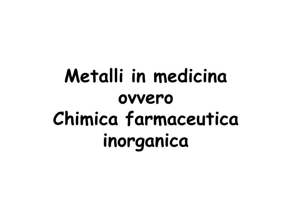 Metalli in medicina ovvero Chimica farmaceutica inorganica