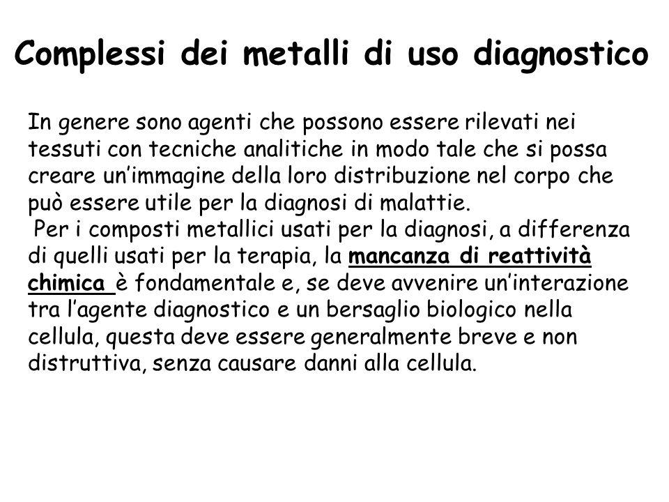Complessi dei metalli di uso diagnostico