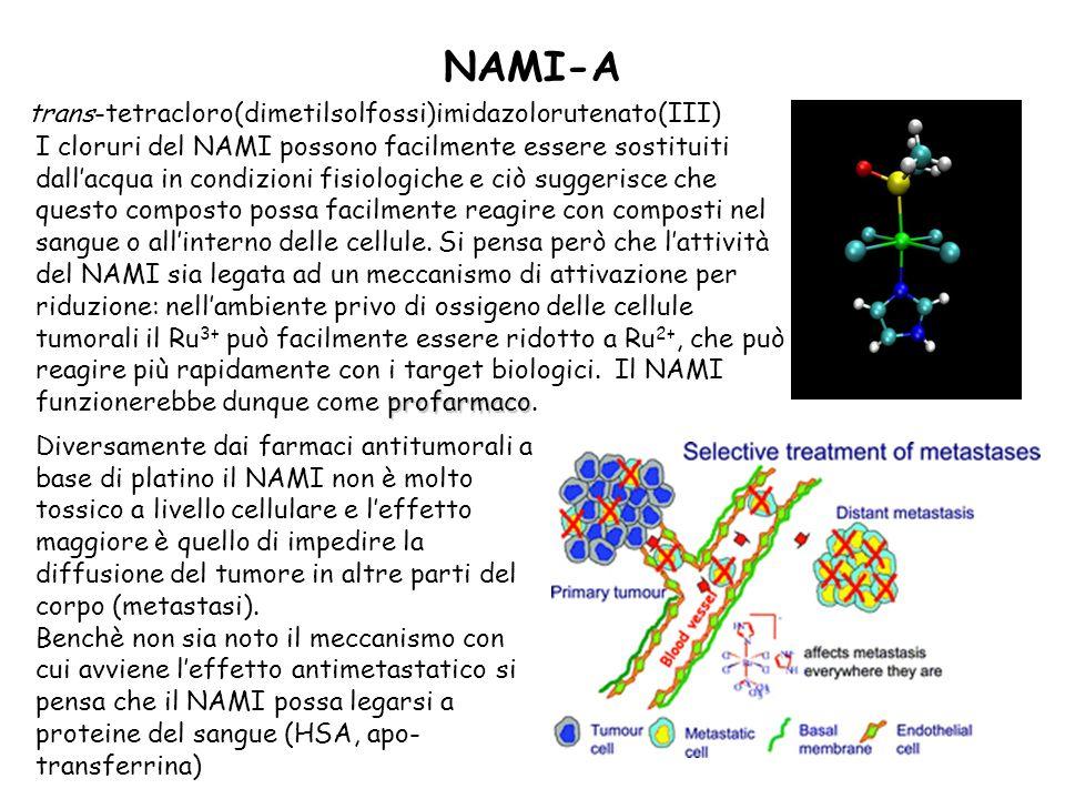 NAMI-A trans-tetracloro(dimetilsolfossi)imidazolorutenato(III)