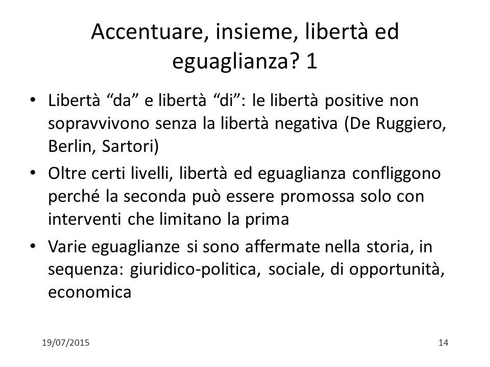 Accentuare, insieme, libertà ed eguaglianza 1