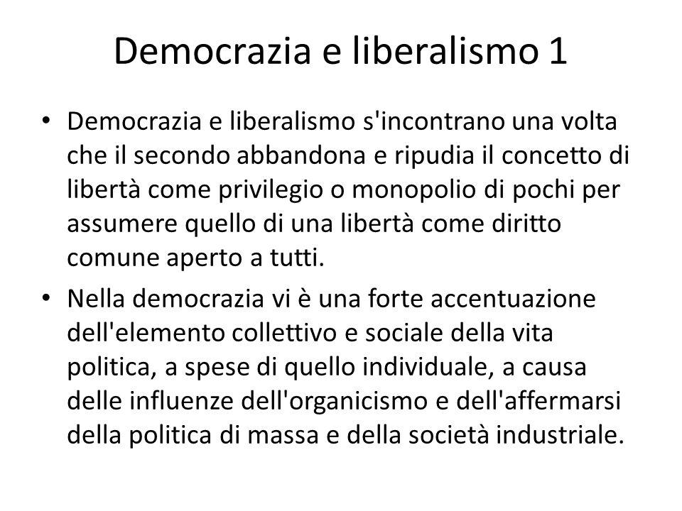 Democrazia e liberalismo 1