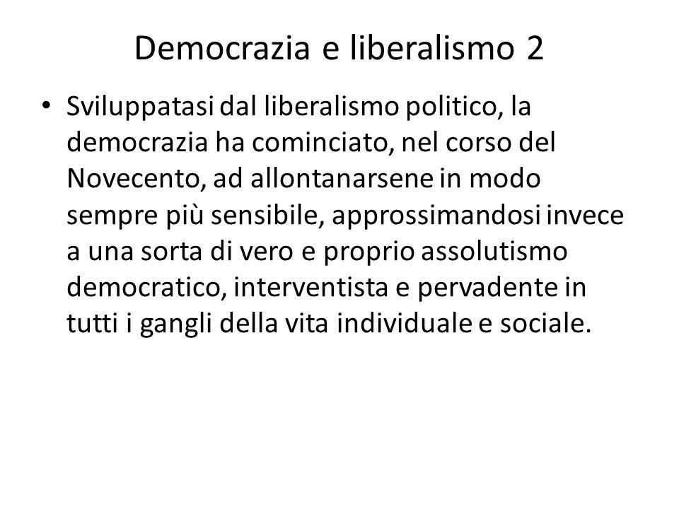 Democrazia e liberalismo 2