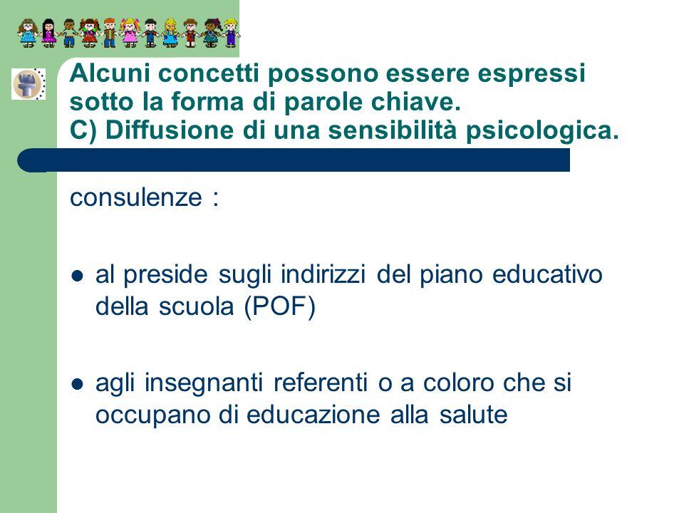 Alcuni concetti possono essere espressi sotto la forma di parole chiave. C) Diffusione di una sensibilità psicologica.