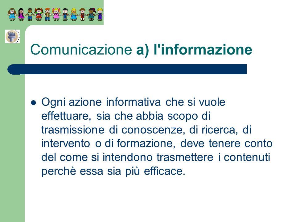 Comunicazione a) l informazione
