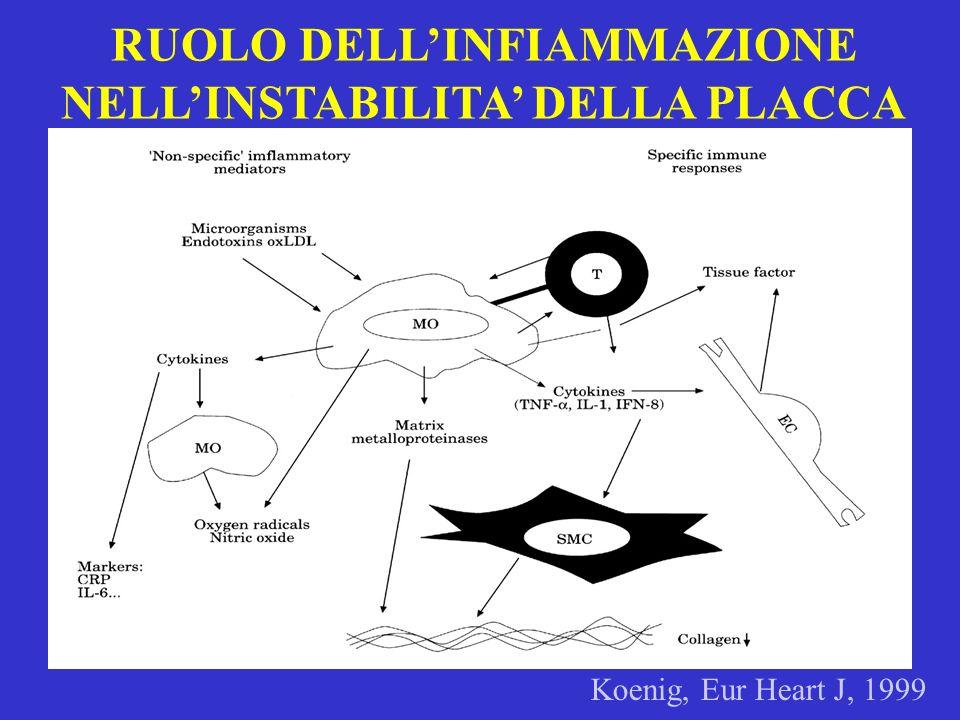 RUOLO DELL'INFIAMMAZIONE NELL'INSTABILITA' DELLA PLACCA