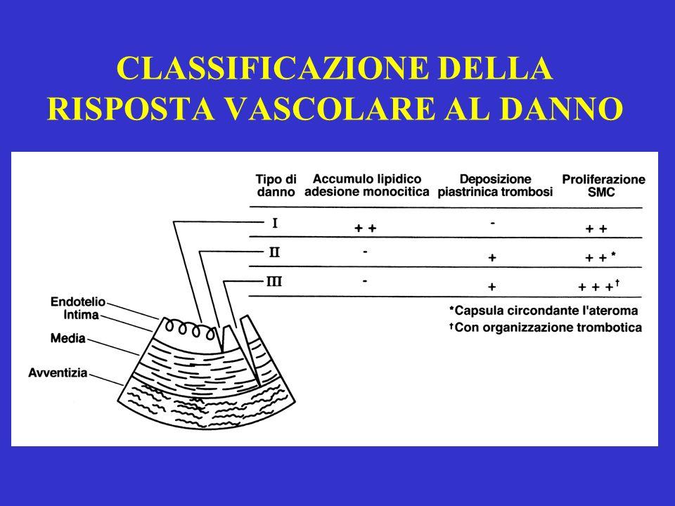 CLASSIFICAZIONE DELLA RISPOSTA VASCOLARE AL DANNO