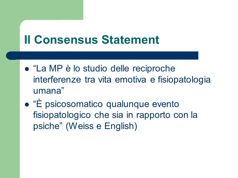 Il Consensus Statement