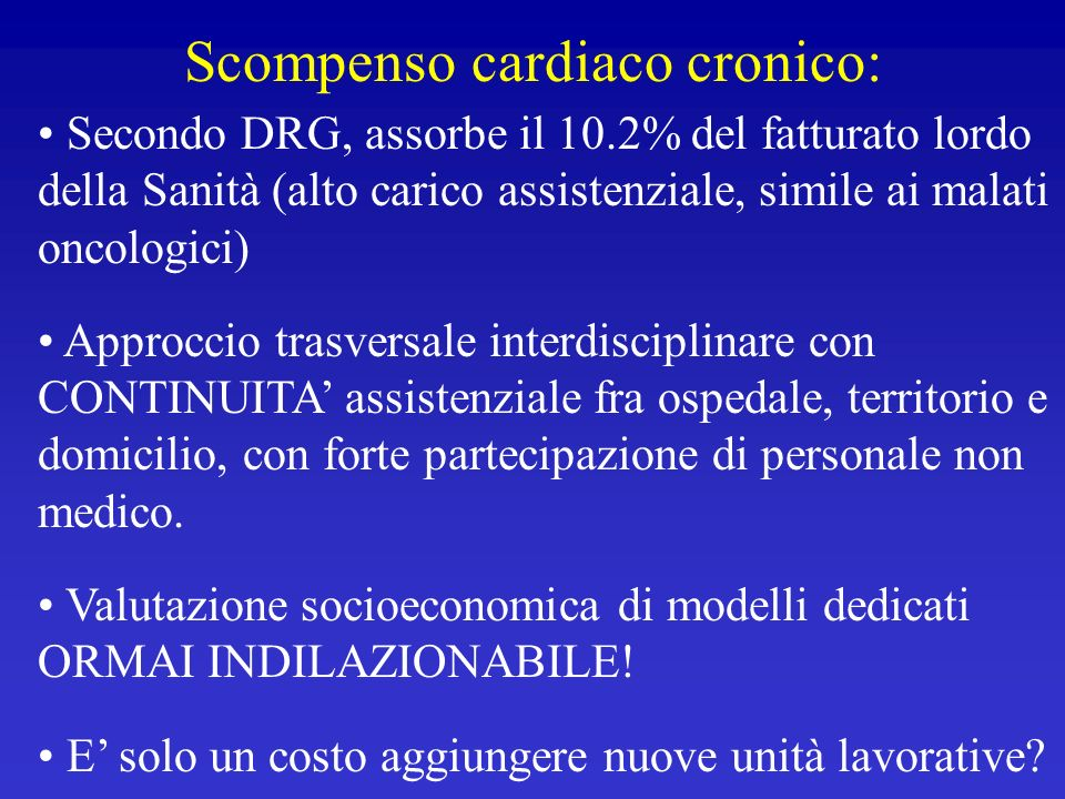 Scompenso cardiaco cronico: