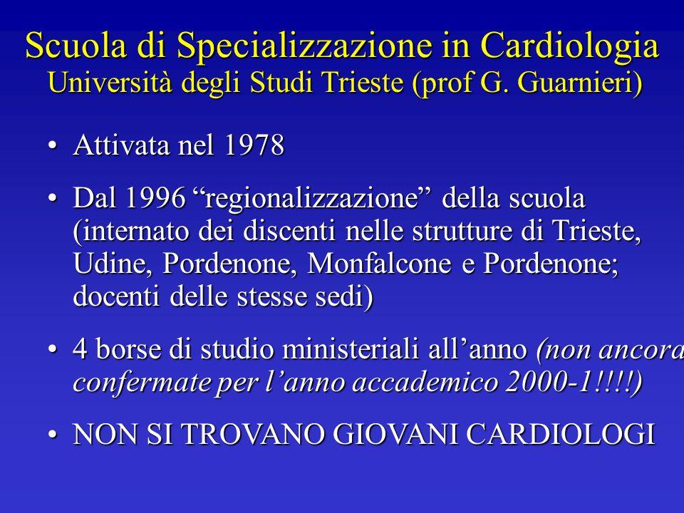 Scuola di Specializzazione in Cardiologia