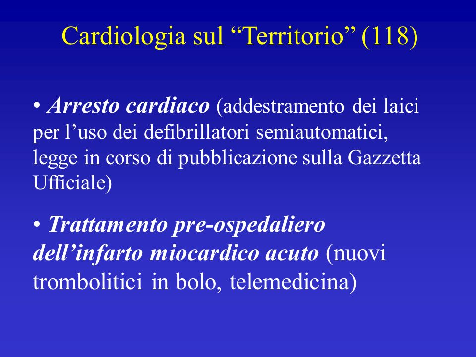 Cardiologia sul Territorio (118)
