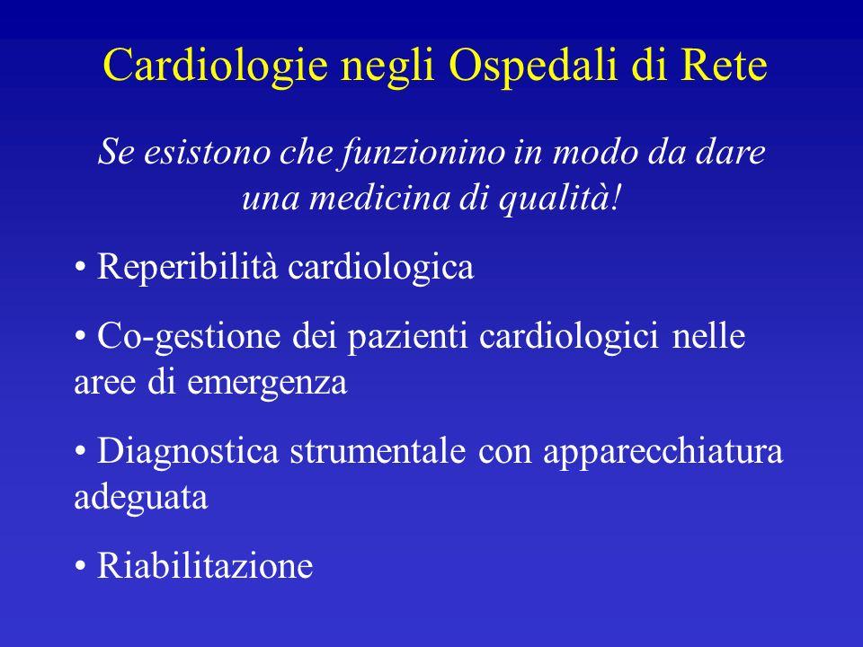 Cardiologie negli Ospedali di Rete