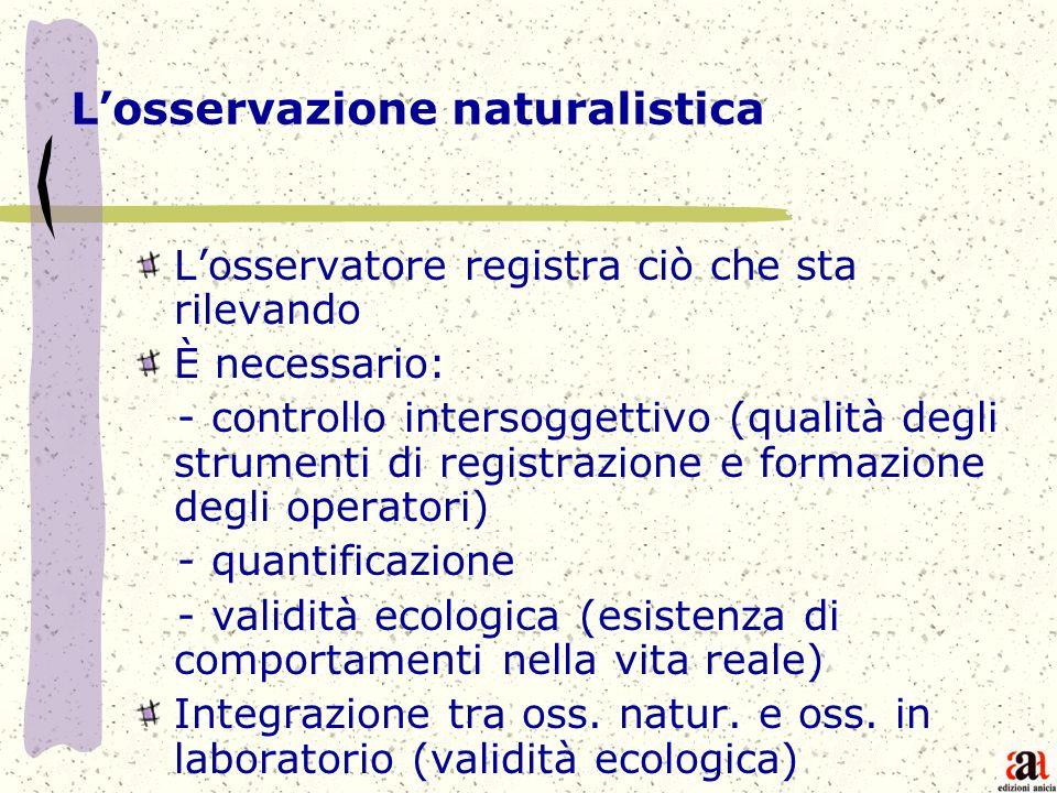 L'osservazione naturalistica