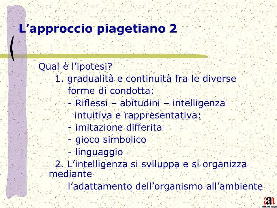 L'approccio piagetiano 2