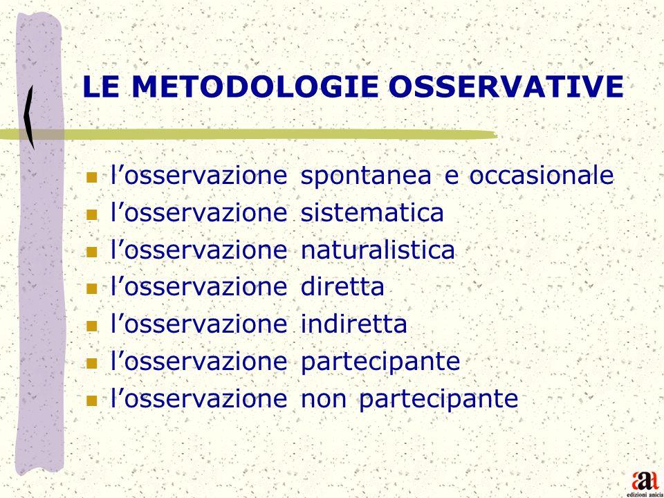 LE METODOLOGIE OSSERVATIVE