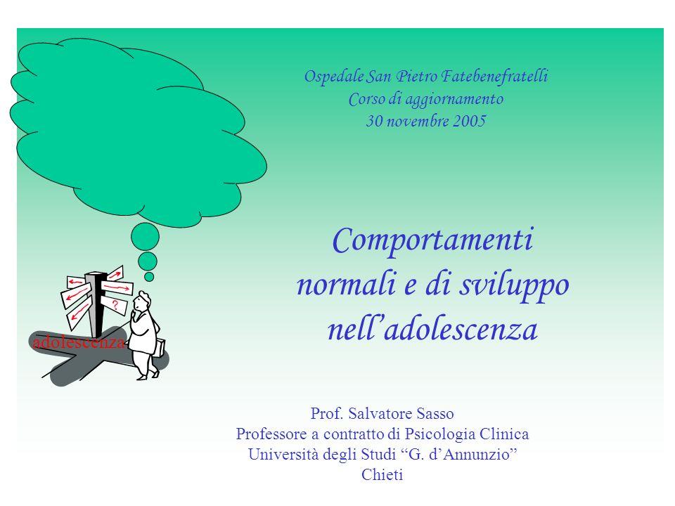 Comportamenti normali e di sviluppo nell'adolescenza