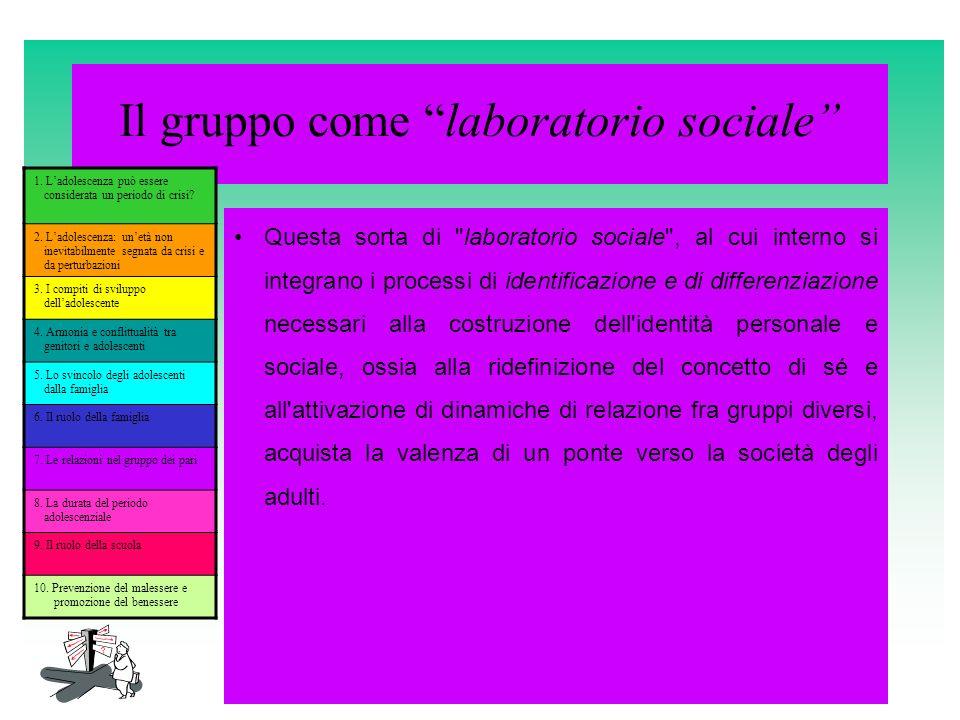 Il gruppo come laboratorio sociale