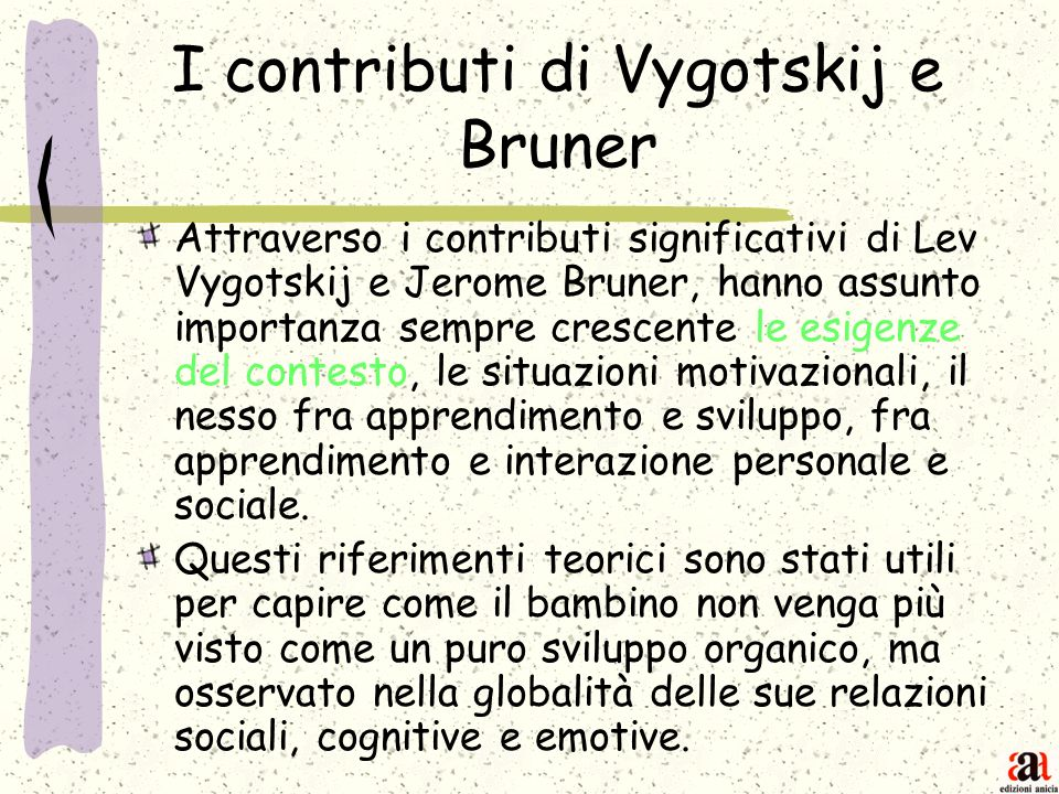 I contributi di Vygotskij e Bruner