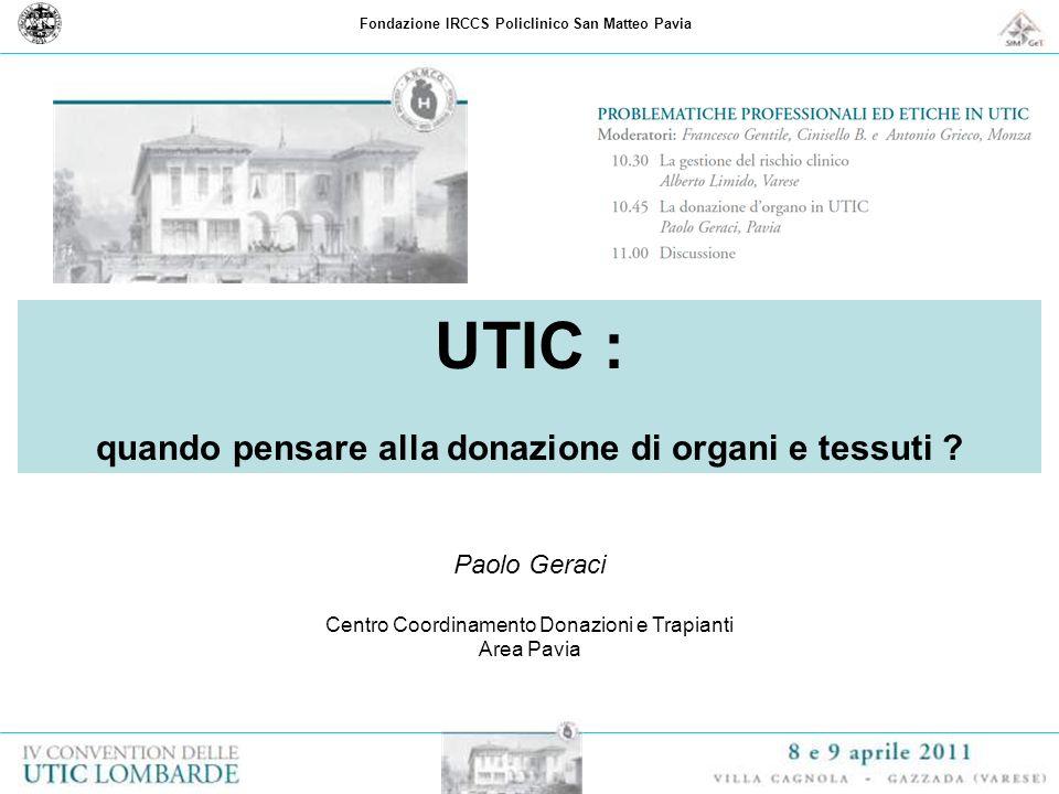 UTIC : quando pensare alla donazione di organi e tessuti
