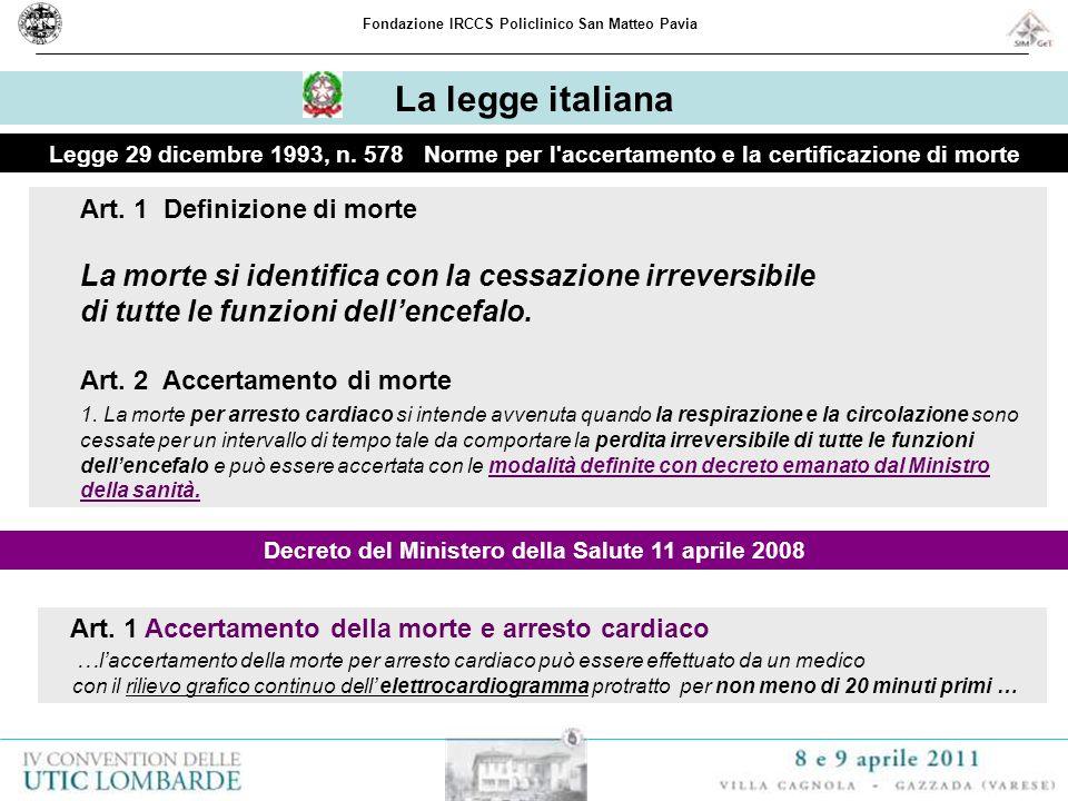La legge italiana di tutte le funzioni dell'encefalo.
