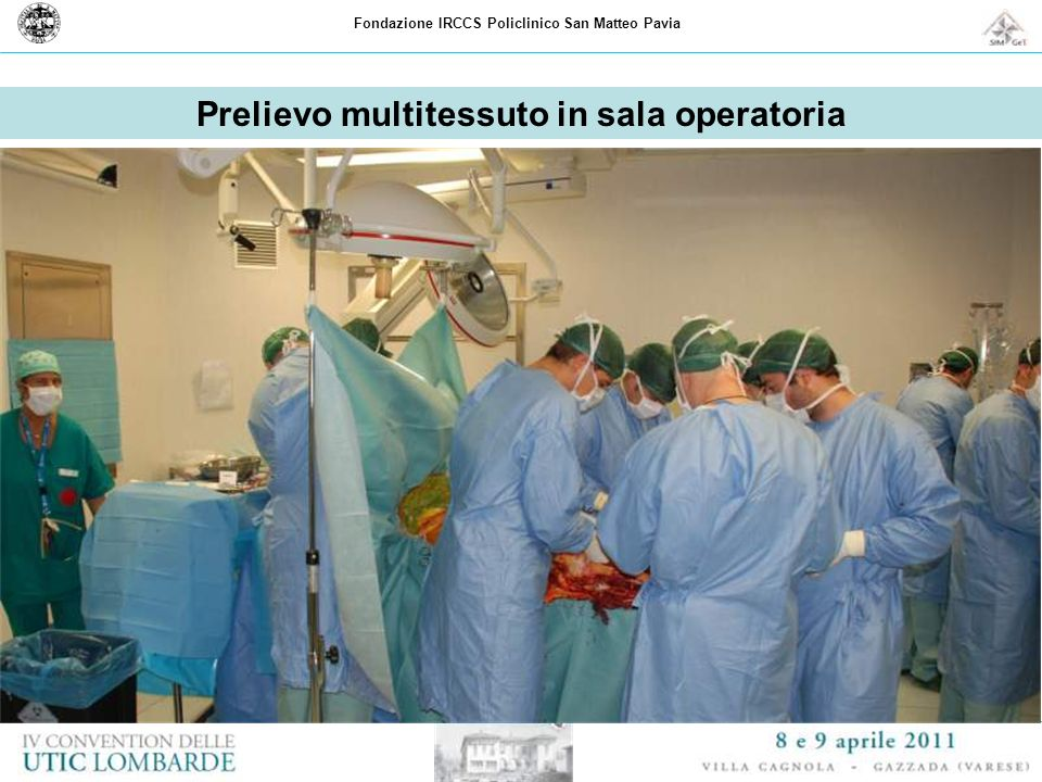 Prelievo multitessuto in sala operatoria