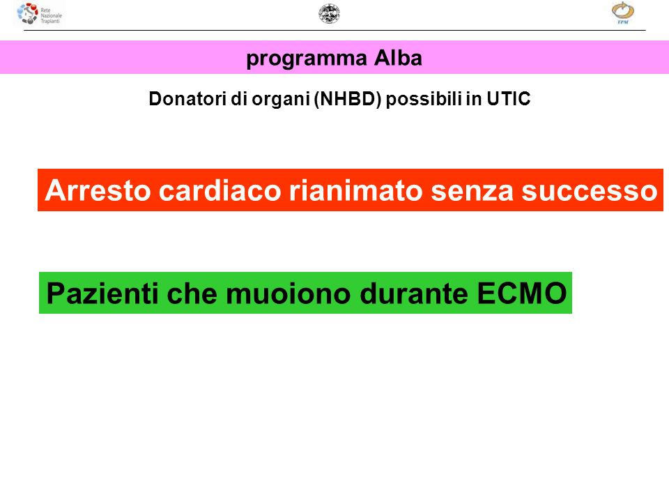 Donatori di organi (NHBD) possibili in UTIC