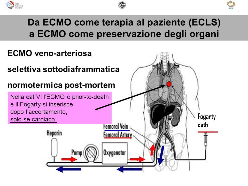 Da ECMO come terapia al paziente (ECLS)