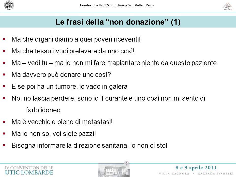 Le frasi della non donazione (1)