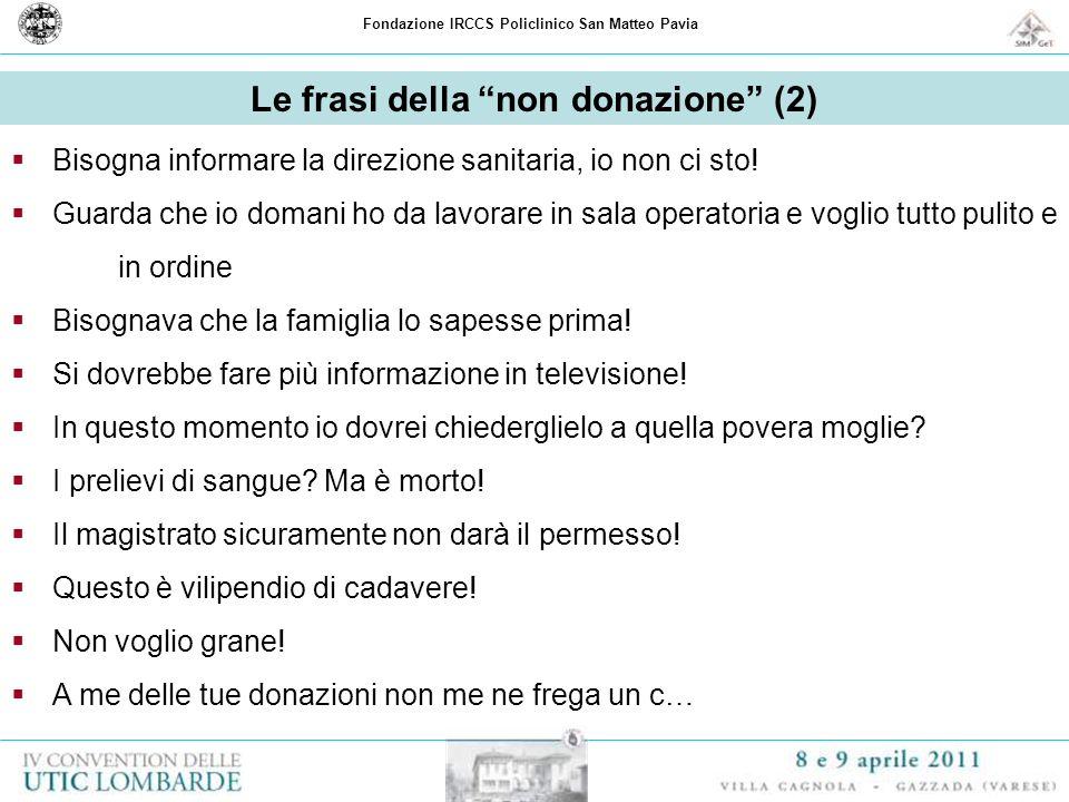 Le frasi della non donazione (2)