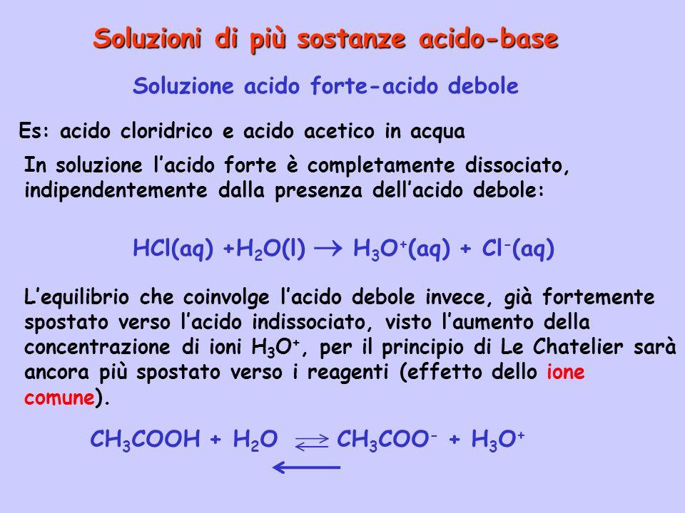 Soluzioni di più sostanze acido-base