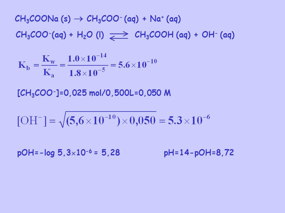CH3COONa (s)  CH3COO- (aq) + Na+ (aq)