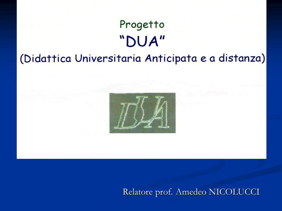 Relatore prof. Amedeo NICOLUCCI