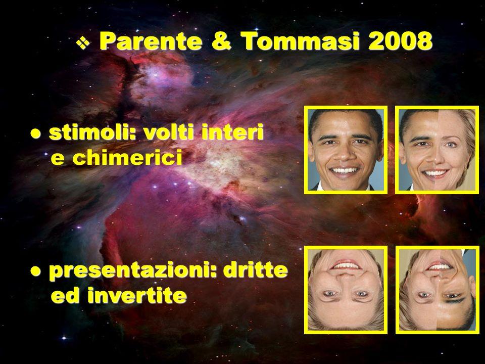Parente & Tommasi 2008 stimoli: volti interi e chimerici